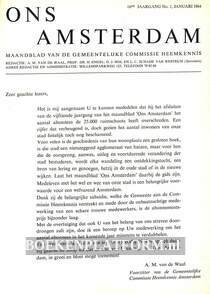 Ons Amsterdam 1964 Ingebonden met originele band