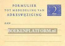 Formulier adreswijziging PTT
