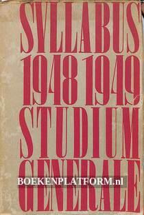 Syllabus 1948-1949 Studium Generale