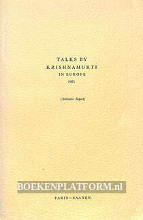 Talks by Krishnamurti in Europe 1965