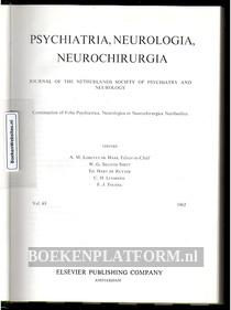 Psychiatria, Neurologia, Neurochirurgia 1962