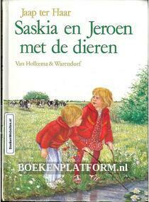 Saskia en Jeroen met de dieren