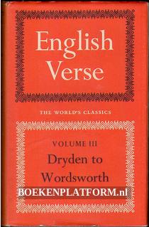 English Verse vol. III