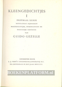Kleengedichtjes van Guido Gezelle