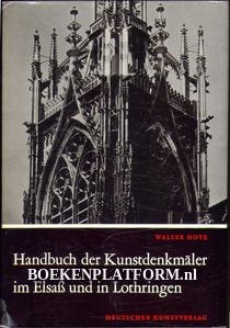 Handbuch der Kunstdenkmäler im Elsass und in Lotheringen