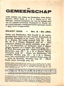 De Gemeenschap maart 1932