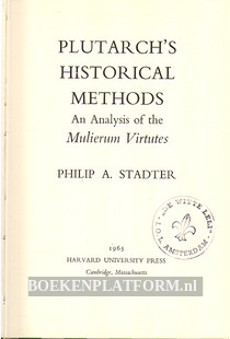 Plutarch's Historical Methods