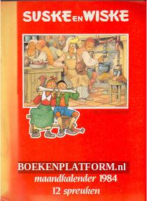 Suske en Wiske maandkalender 1984