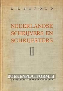 Nederlandse schrijvers en schrijfsters II