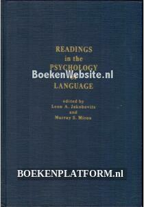 Readings in the Psychology of Language