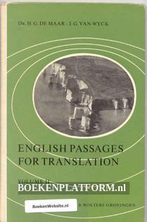 English Passages for Translation
