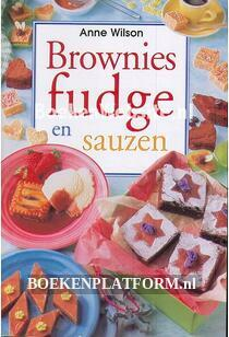 Brownies fudge en sauzen