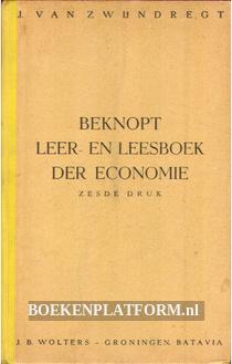 Beknopt leer- en leesboek der economie