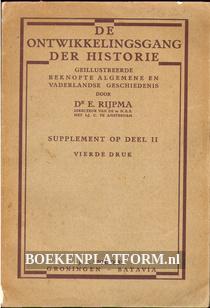 De ontwikkelingsgang der Historie II supplement