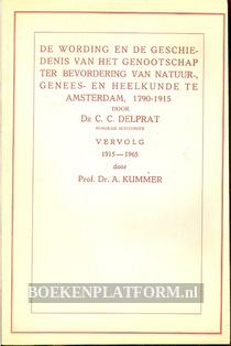 De wording en de geschiedenis van het genootschap...