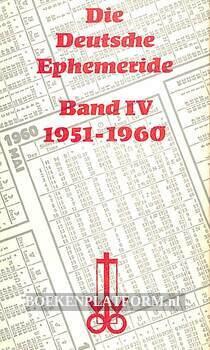 Die Deutsche Ephemeride IV 1951-1960