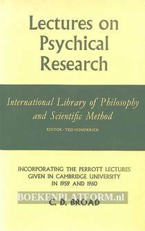 Lectures on Psychical Research