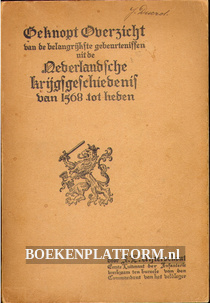 Beknopt Overzicht Nederlandsche krijgsgeschiedenis