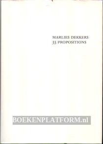Marlies Dekkers 33 Propositions