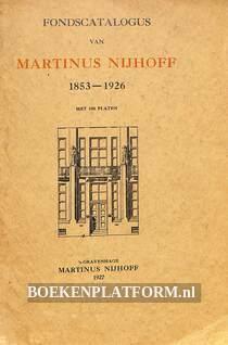 Fondscatalogus Martinus Nijhoff 1853-1926