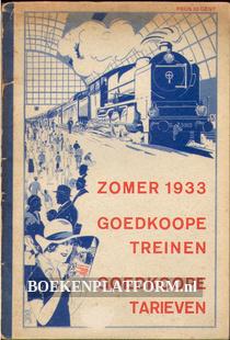 Zomer 1933, goedkope treinen goedkoop tarieven