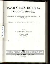 Psychiatria, Neurologia, Neurochirurgia 1960