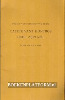 Proeve van beschrijving bij de Caerte vant Hontbos ende Zijplant