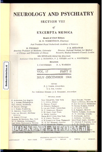 Neurology and Neurosurgery 1964
