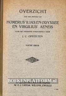 Overzicht van de inhoud van Homerus Ilias en Odysee