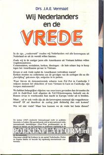 Wij Nederlanders en de Vrede
