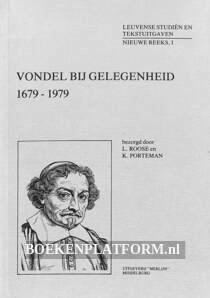 Vondel bij gelegenheid 1679-1979