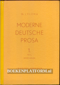 Moderne Deutsche Prosa 1