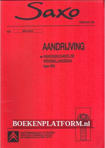Citroen Saxo, Handgeschakelde versnellingsbak type MA