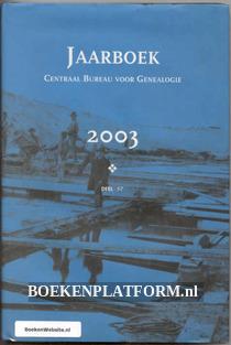 Jaarboek CBG deel 57 2003