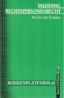 Inleiding Rechtspersonen-recht