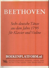 Beethoven, Sechs deutsche Tanze fur Klavier und Violine