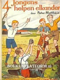 4 Jongens helpen elkander