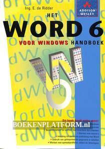 Het Word 6 voor Windows handboek