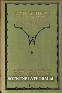 Kant's beteekenis voor de wijsbegeerte