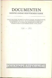 Documenten Nederlandse hervormde kerk
