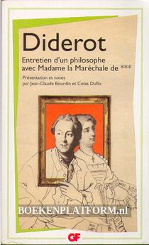 Entretien d'un philosophe avec Madame la Marchale de ***