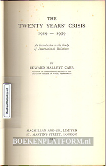 The Twenthy Years' Crisis 1919-1934
