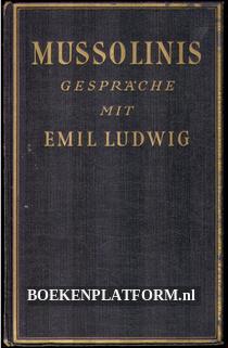 Mussolinis gespräche met Emil Ludwig