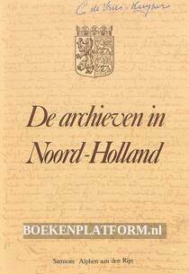 De archieven in Noord-Holland