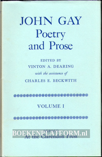 John Gay Poetry and Prose I