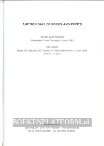 Auction Sale of Books and Prints 1992