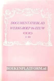 Documentatie-blad werkgroep 18e eeuw