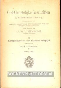 Kerkgeschiedenis van Eusebius Pamphyli III