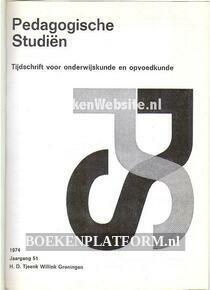 Paedagogische studien 1974