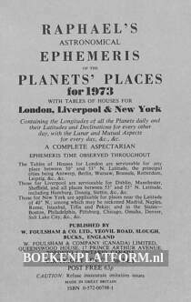 Raphel's Ephemeris Planets Places 1973